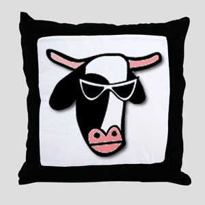 Cool Cow Throw Pillow